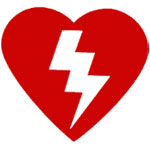 Automated external defibrillators (AED) logo