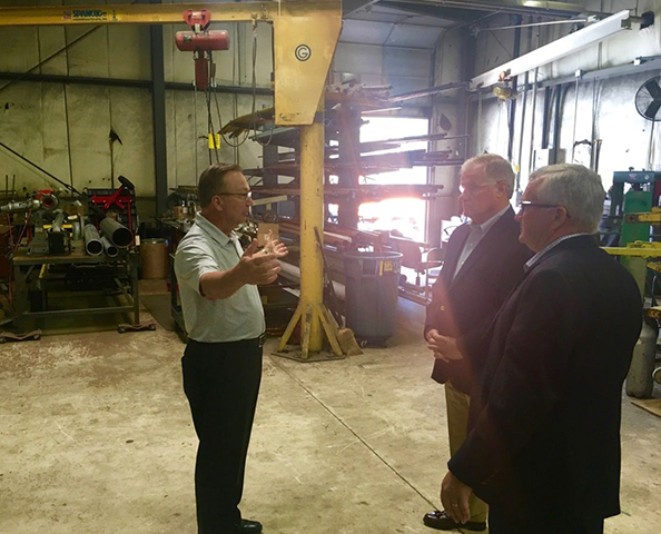 State Senator Scott Wagner tours company's fabrication shop as well as their CAD/Pre-Construction Design and Service departments