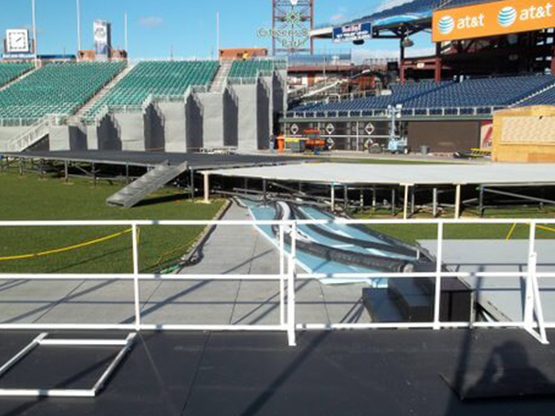 Herman Goldner installs the ice rink, chillers, pumps and piping at Citizen Bank Ballpark