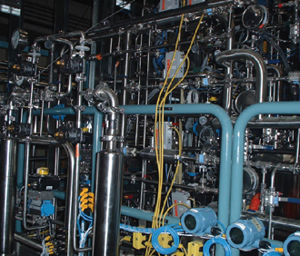 A view inside our fabrication facility for training staff on sanitary process piping services